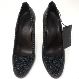 Burberry Shoes - Burberry Brown Pumps Woven Stiletto 39.5